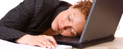 Slaperig op werk door warmte